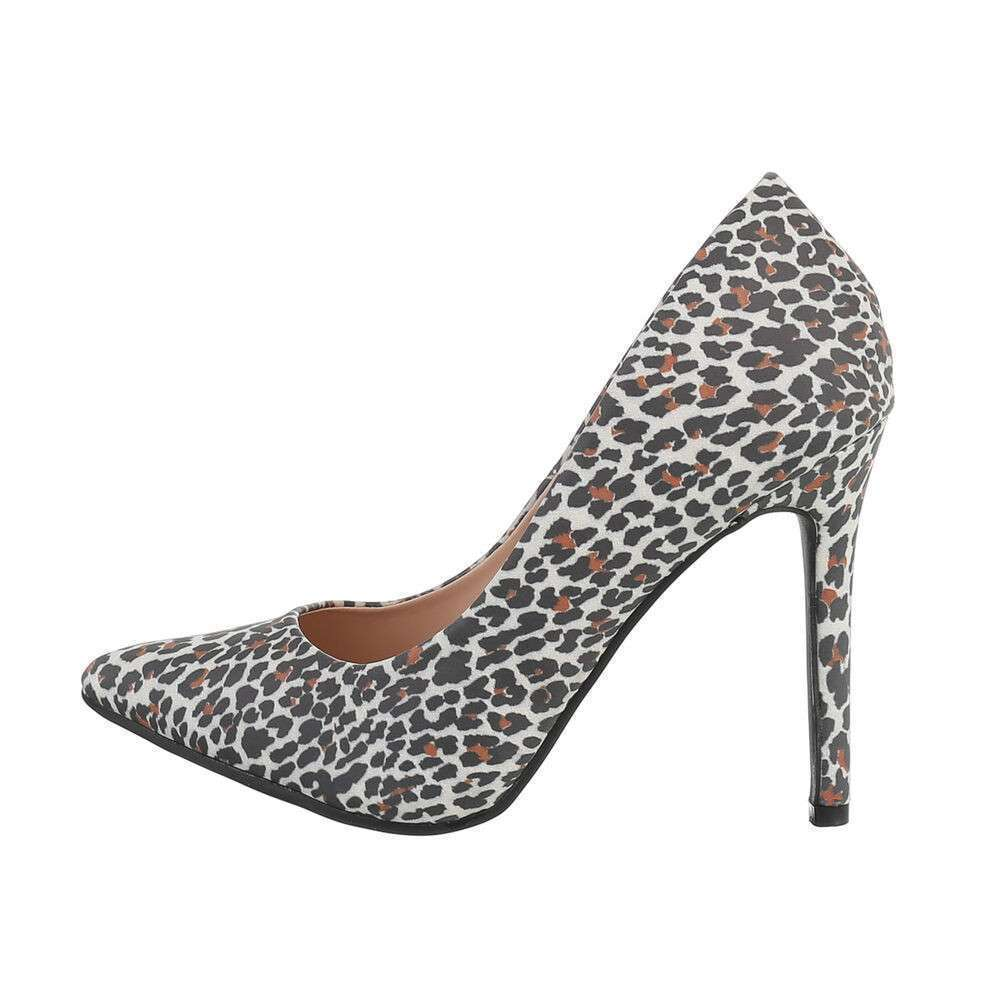 Pantofi cu toc înalt pentru femei - leopard