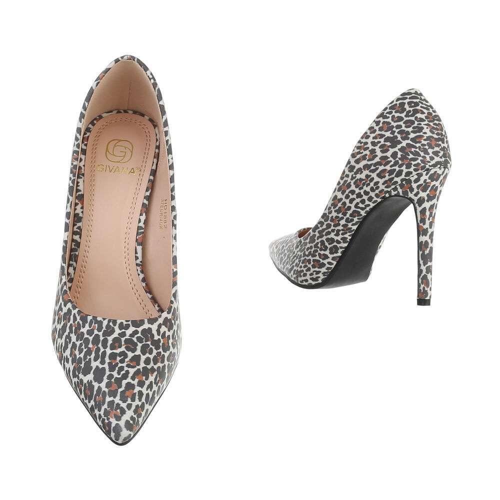 Pantofi cu toc înalt pentru femei - leopard - image 3