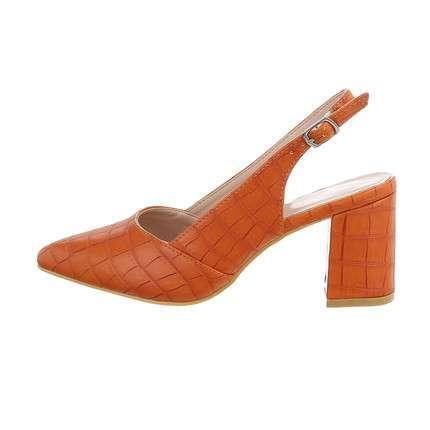 Damen High-Heel Pumps - orange