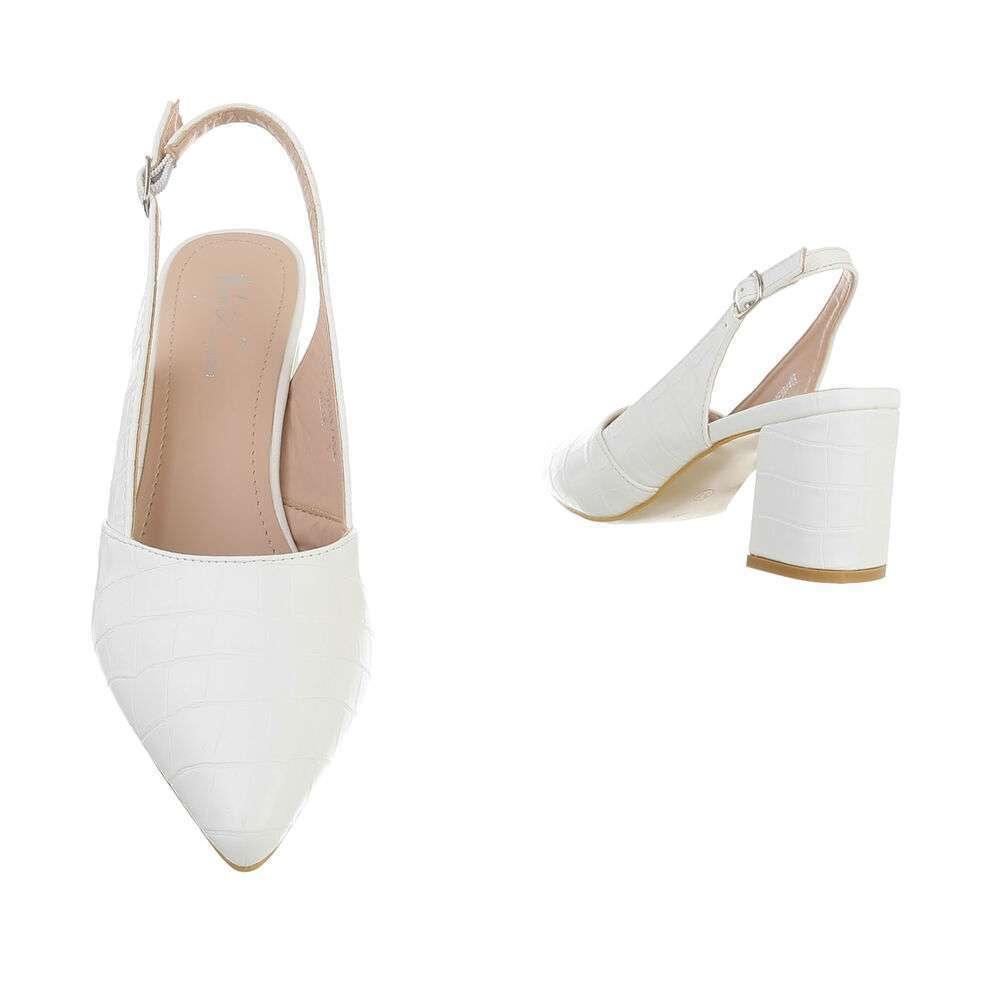 Pantofi cu toc înalt pentru femei - albă - image 3