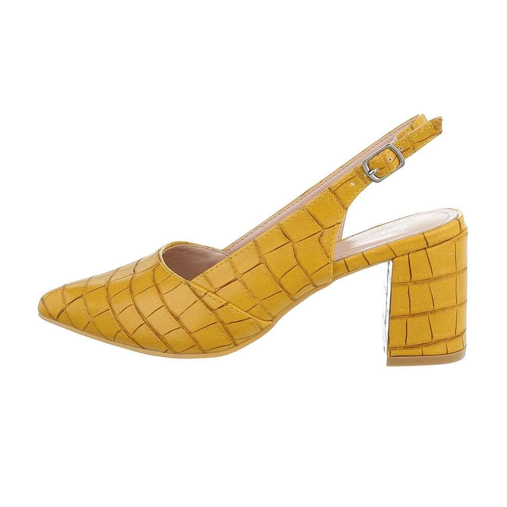 Pantofi cu toc înalt pentru femei - galben - image 1