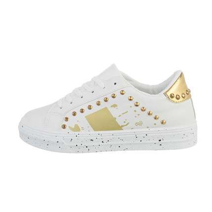 Damen Low-Sneakers - gold