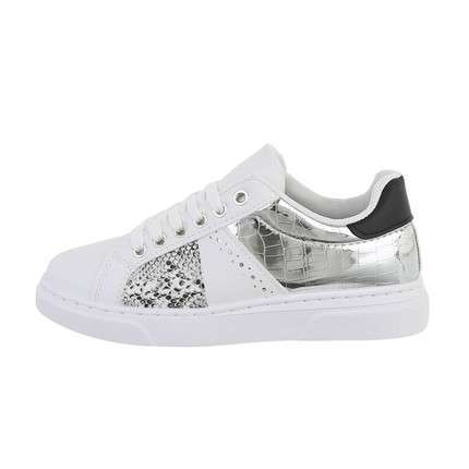 Damen Low-Sneakers - whitesilver