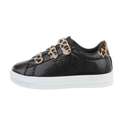 Damen Low-Sneakers - blackleopard