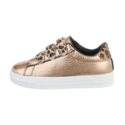 Damen Low-Sneakers - goldleopard