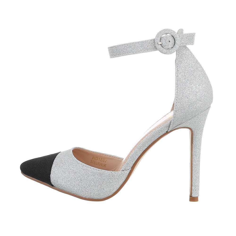 Sandale pentru femei - argintii - image 1