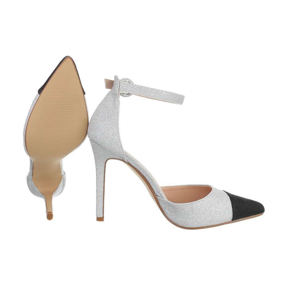 Sandale pentru femei - argintii - image 2