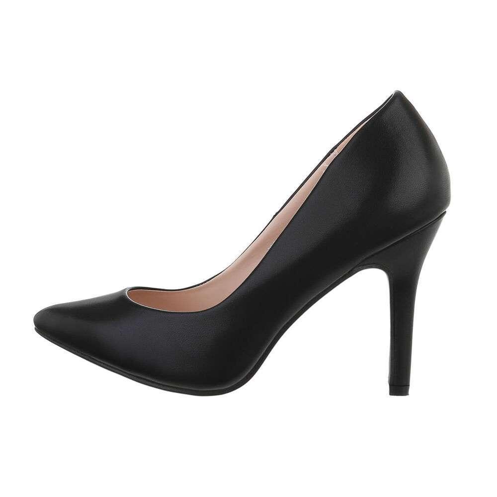 Туфли-лодочки женские на высоком каблуке - черный