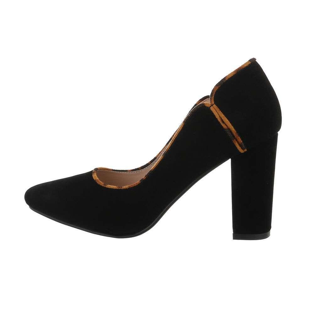 Pantofi cu toc înalt pentru femei - BK.leopard - image 1
