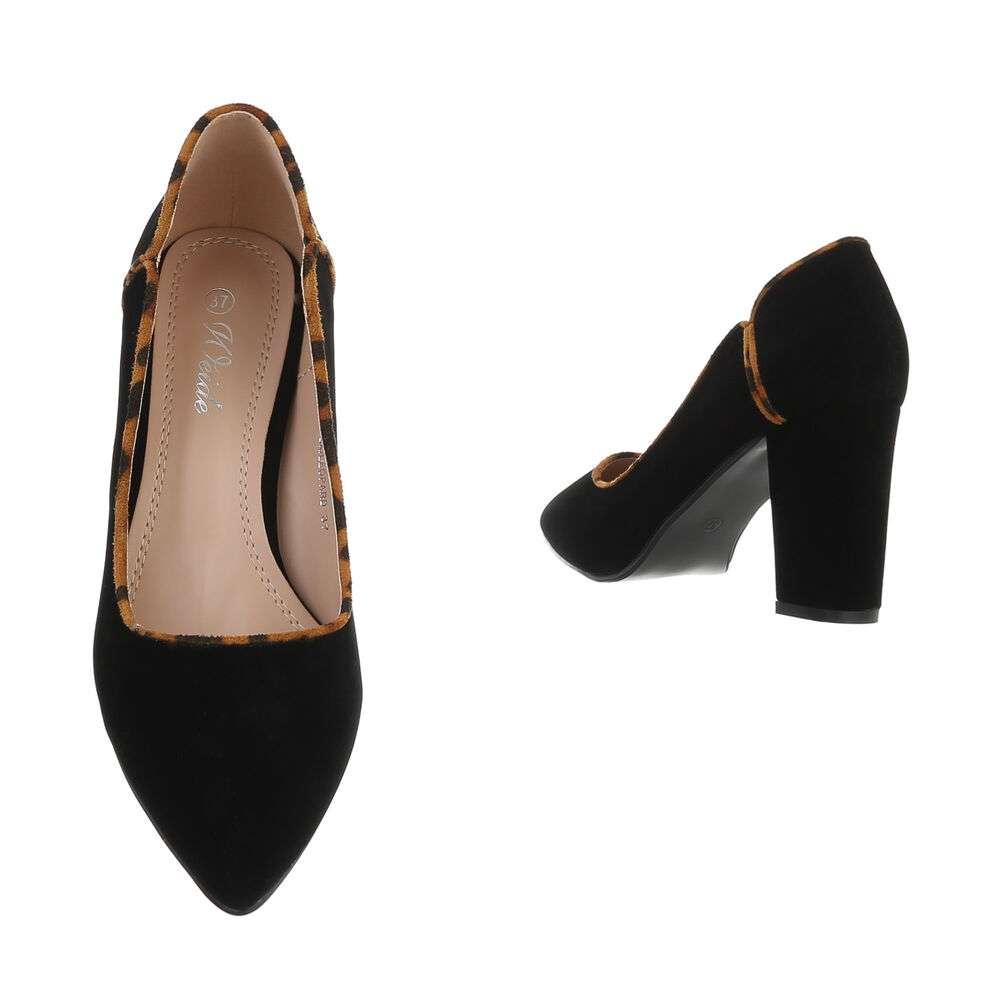 Pantofi cu toc înalt pentru femei - BK.leopard - image 3
