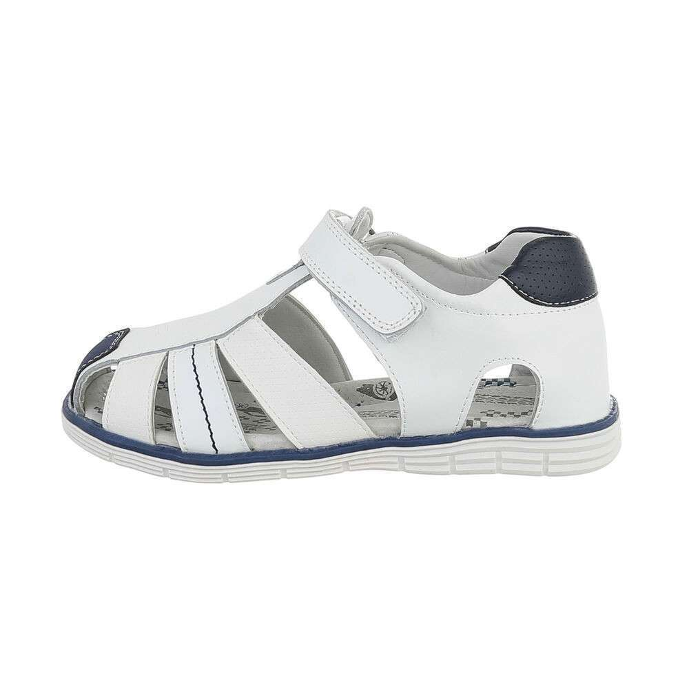 Sandale ortopedice pentru copii - albe - image 1