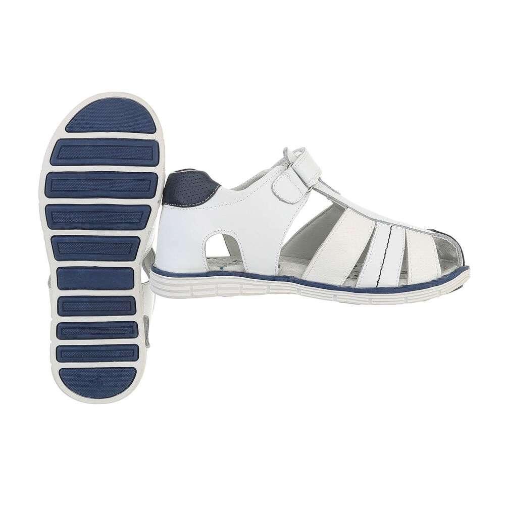 Sandale ortopedice pentru copii - albe - image 2