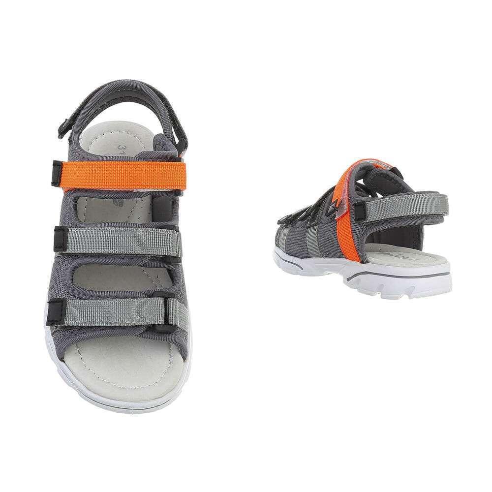 Sandale ortopedice pentru copii - gri - image 3