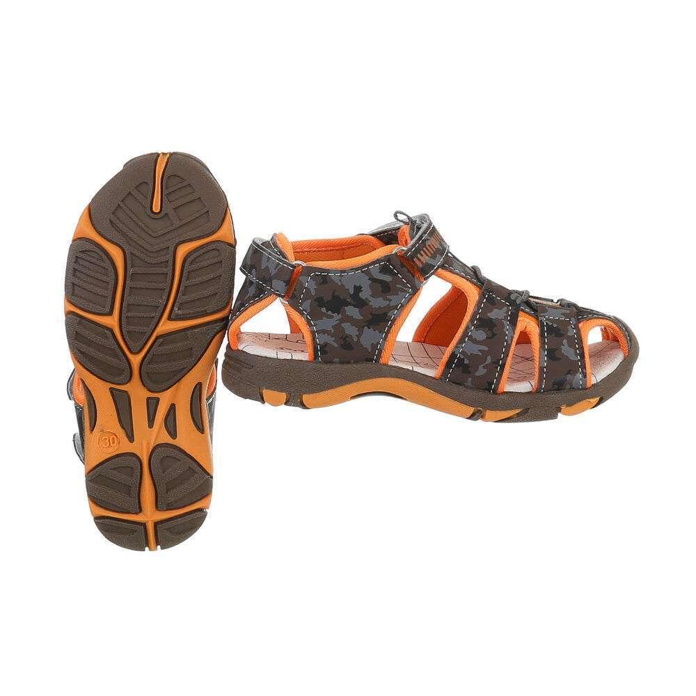 Sandale ortopedice pentru copii - cafea - image 2