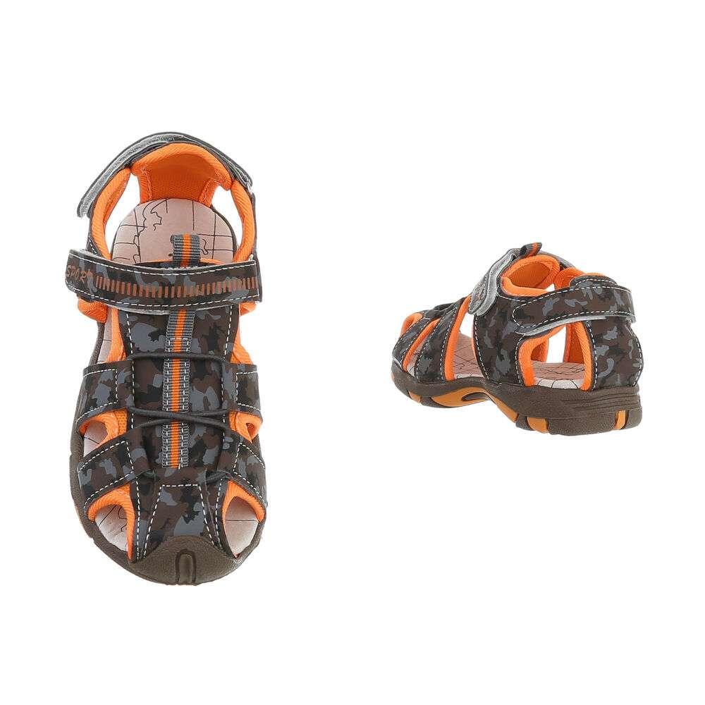 Sandale ortopedice pentru copii - cafea - image 3