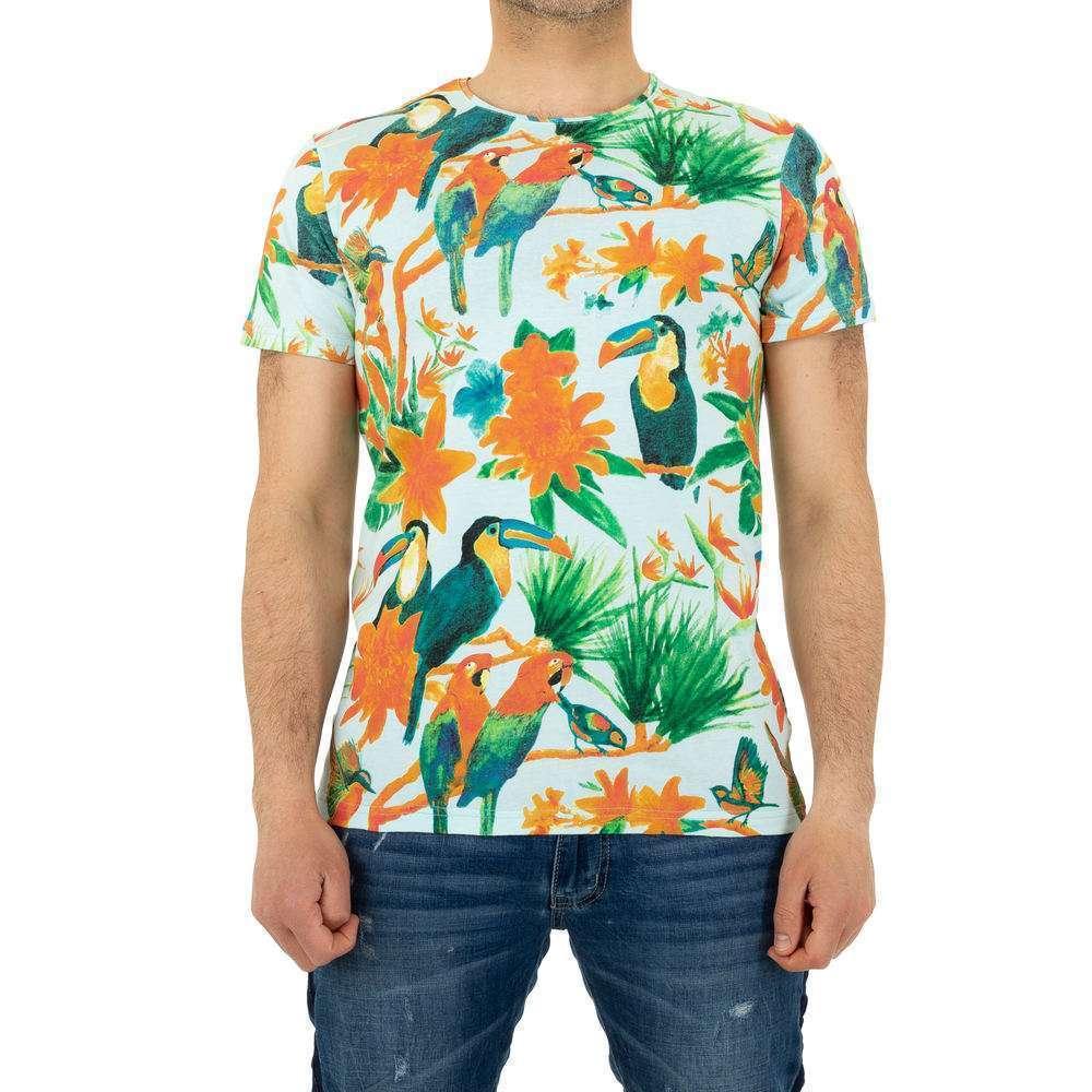 Tricou bărbătesc marca Glo Story - albastru - image 1