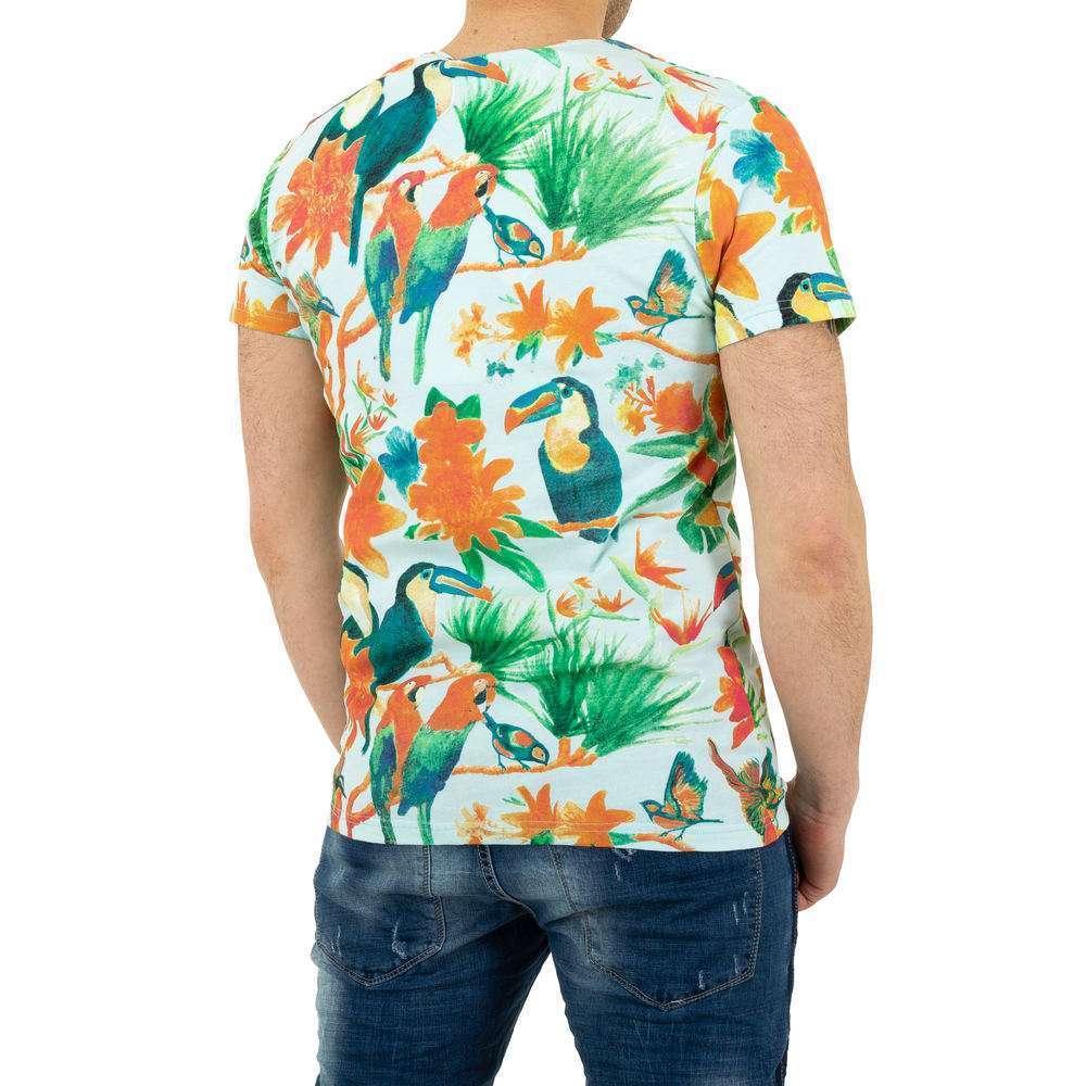 Tricou bărbătesc marca Glo Story - albastru - image 3