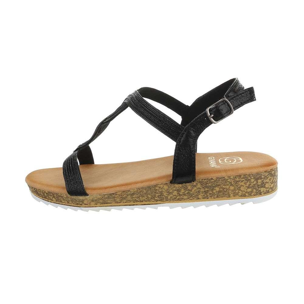Sandale plate pentru femei - negre - image 1