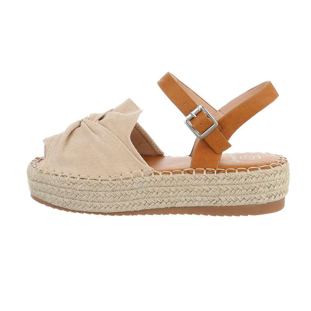 Sandales compensées femme - bej