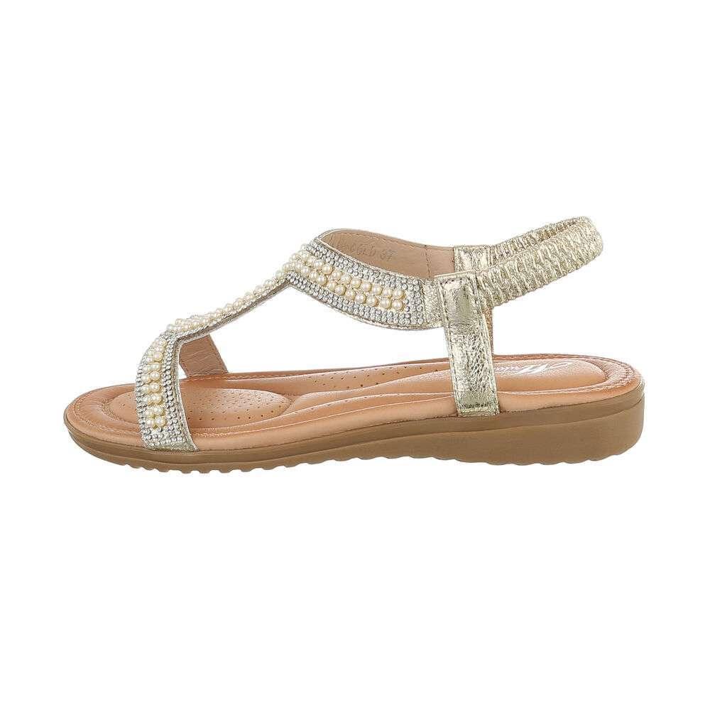 Sandale plate pentru femei - auriu - image 1