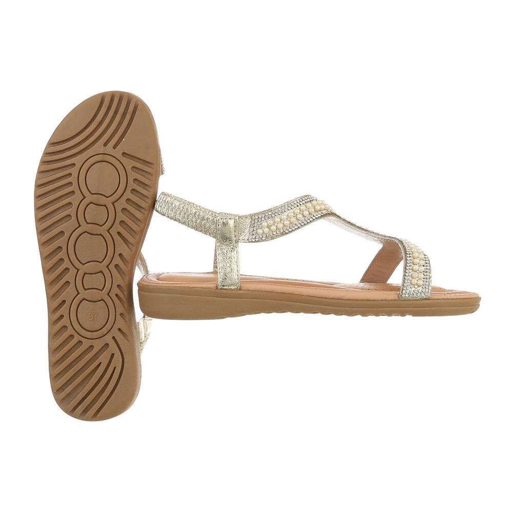 Sandale plate pentru femei - auriu - image 2