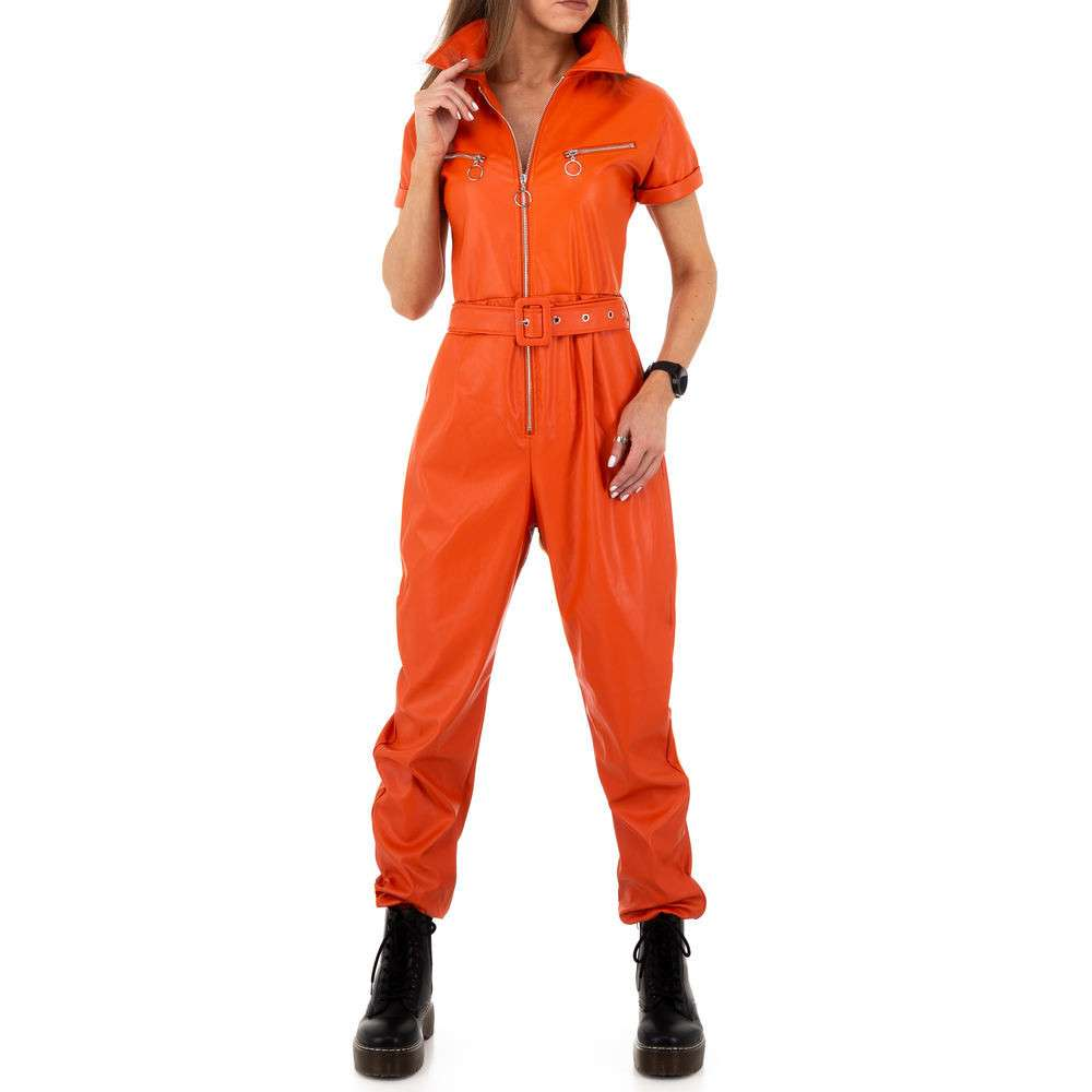 Pantaloni pentru femei de Emma% 26Ashley Design - portocaliu
