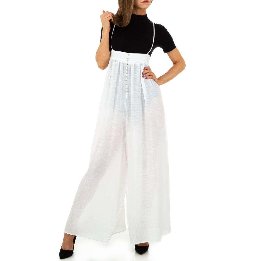 Pantaloni de dama de Voyelles - albi