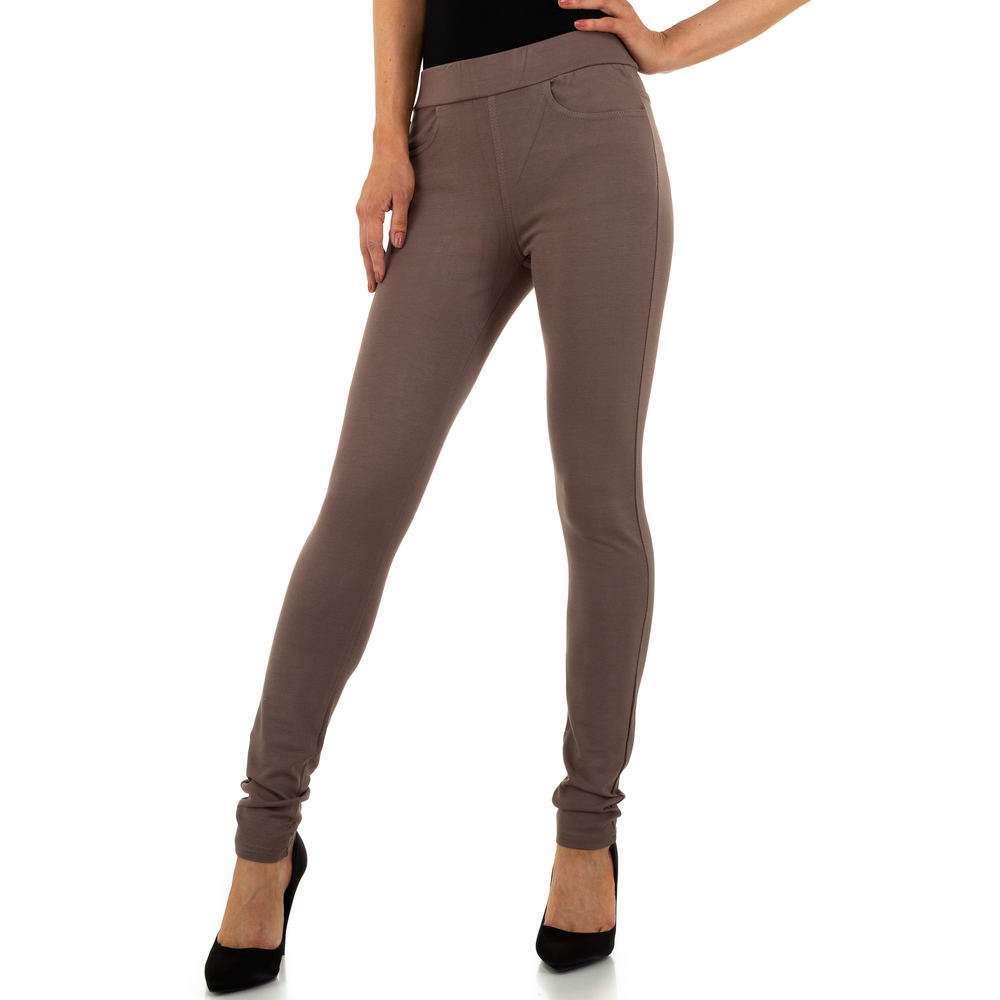 Женские брюки Laulia - коричневые