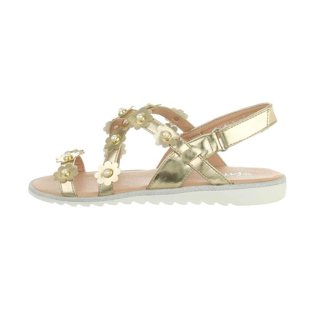 Sandale ortopedice pentru copii - aurii