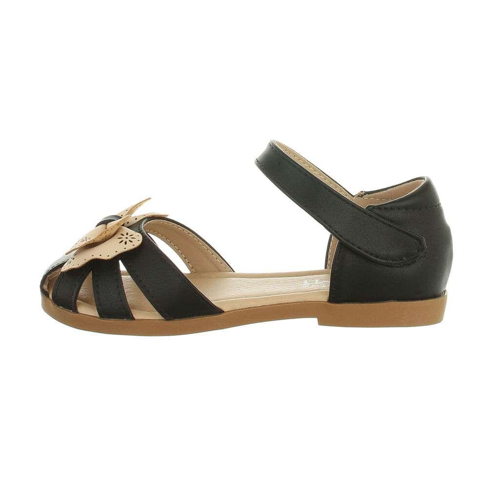 Sandale ortopedice pentru copii - negru-bej