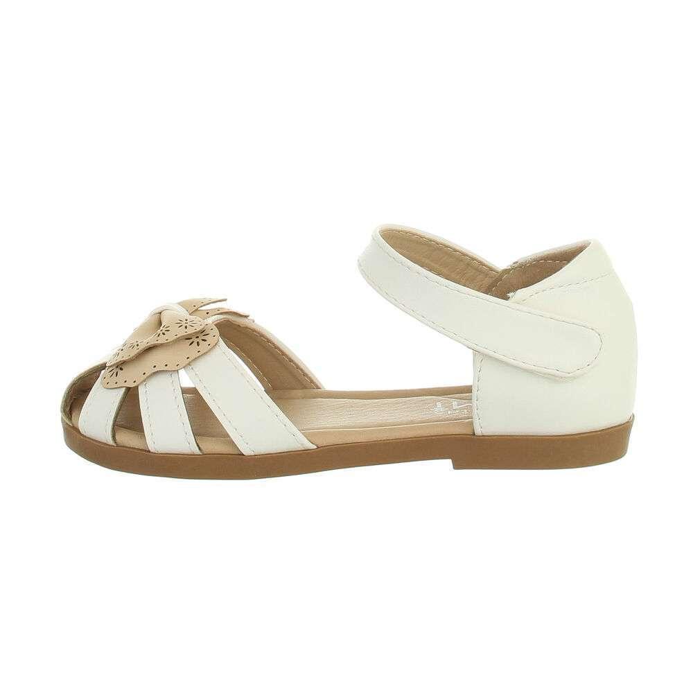 Sandale ortopedice pentru copii - bej alb - image 1