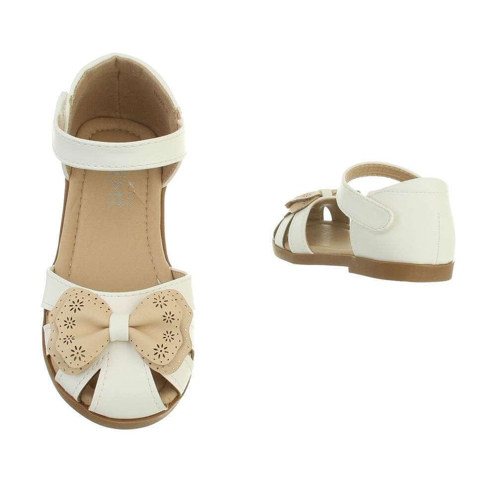 Sandale ortopedice pentru copii - bej alb - image 3