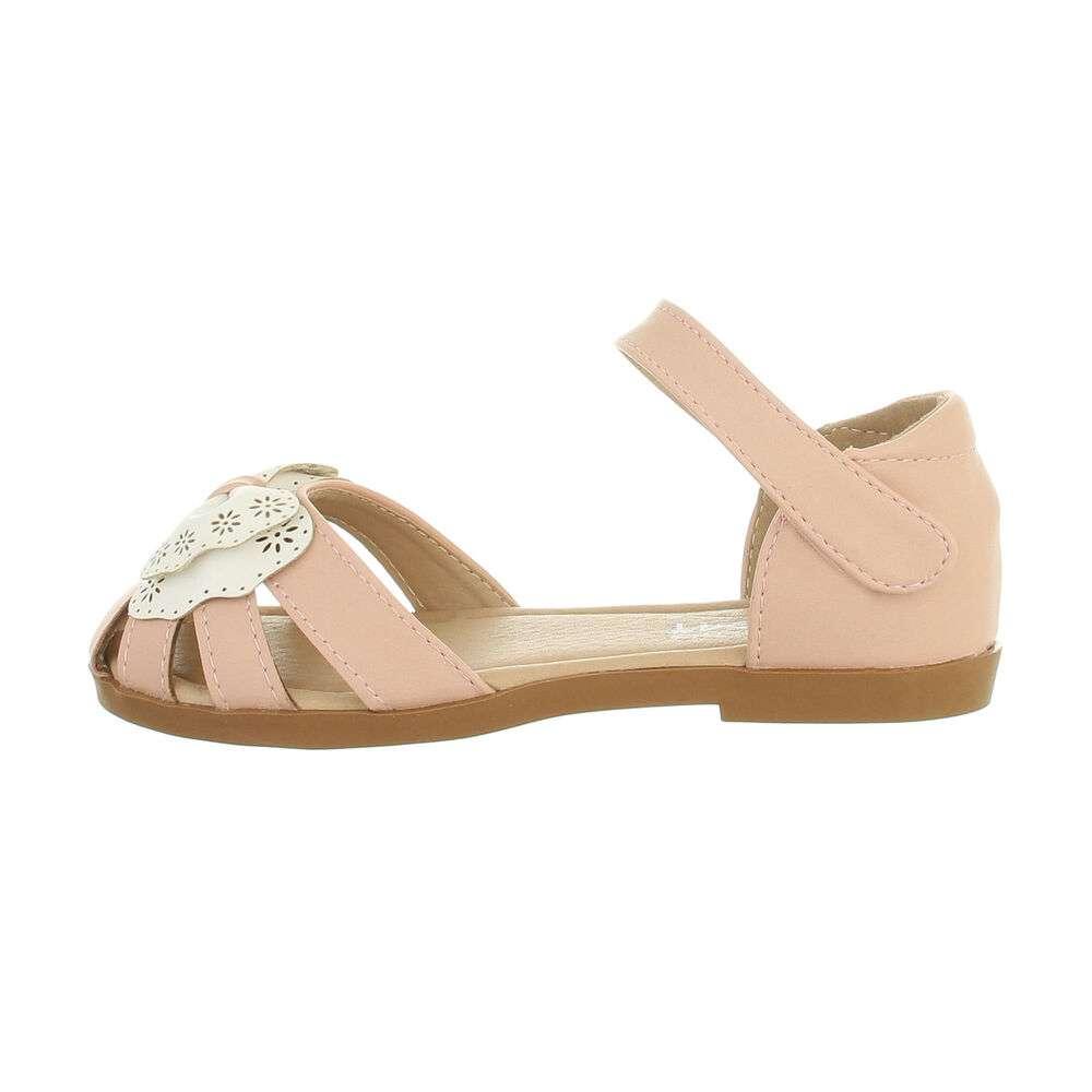 Sandale ortopedice pentru copii - roz alb