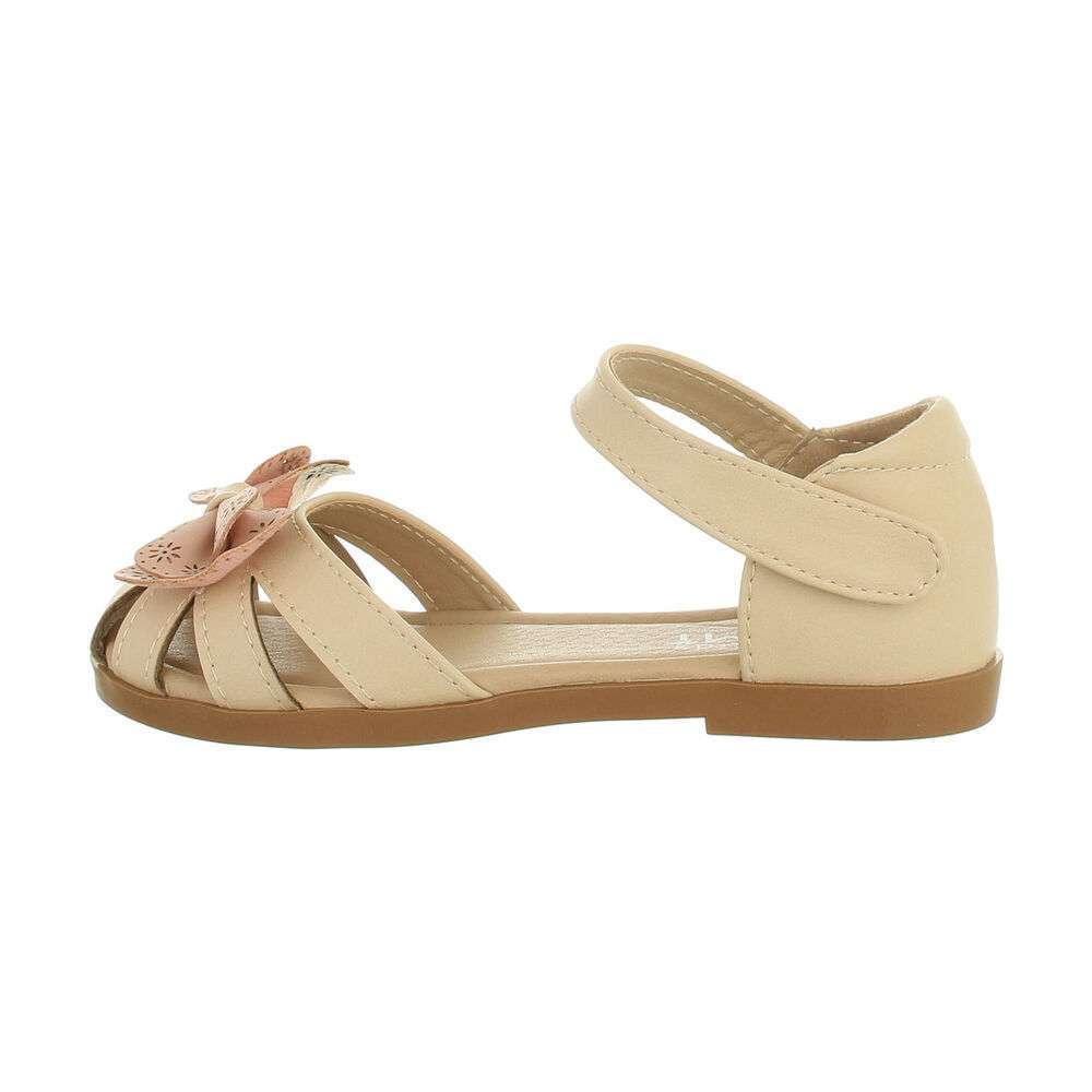 Sandale ortopedice pentru copii - roz bej