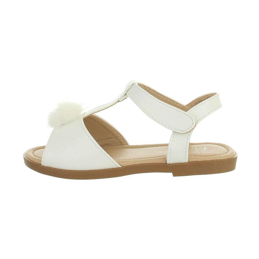 Sandale ortopedice pentru copii - albe