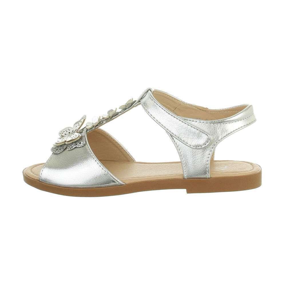 Sandale ortopedice pentru copii - argintii