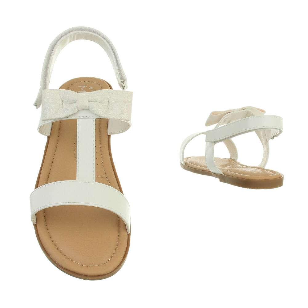 Sandale ortopedice pentru copii - albe - image 3