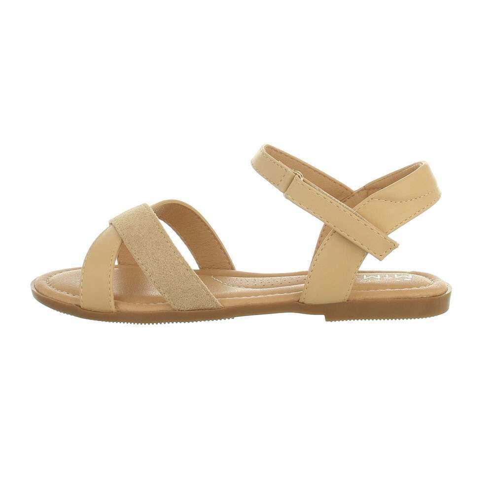 Sandale ortopedice pentru copii - bej