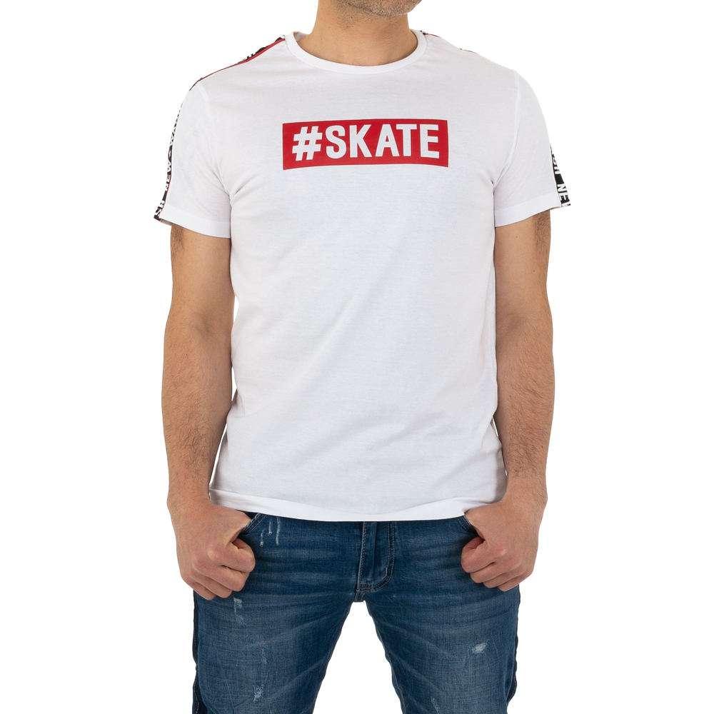 Tricou bărbătesc marca Glo storye - alb