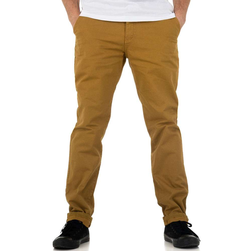 Pantaloni bărbați de Glo storye - cămilă