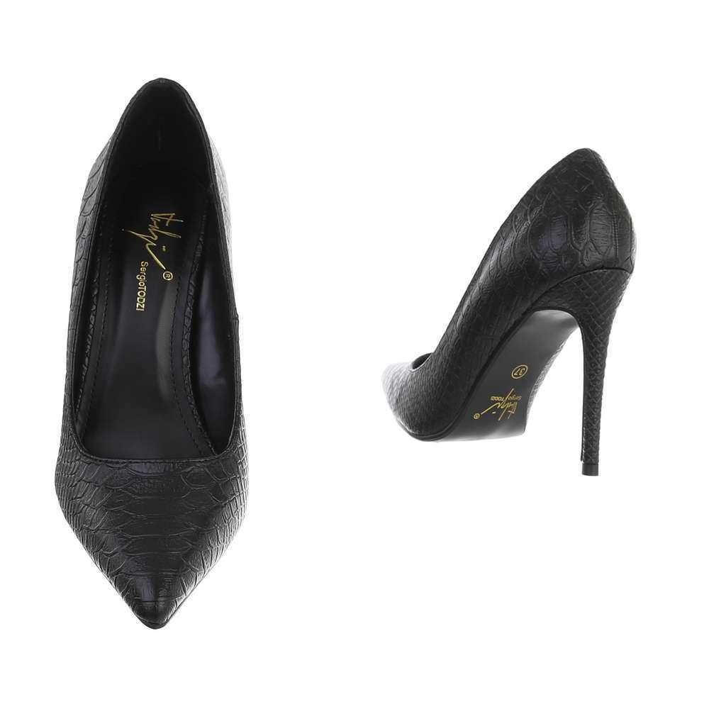 Pantofi cu toc înalt pentru femei - negru - image 3