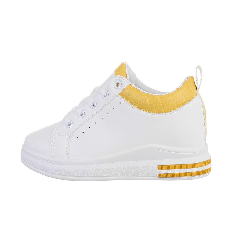 Teniși pentru femei - alb-galben - image 1