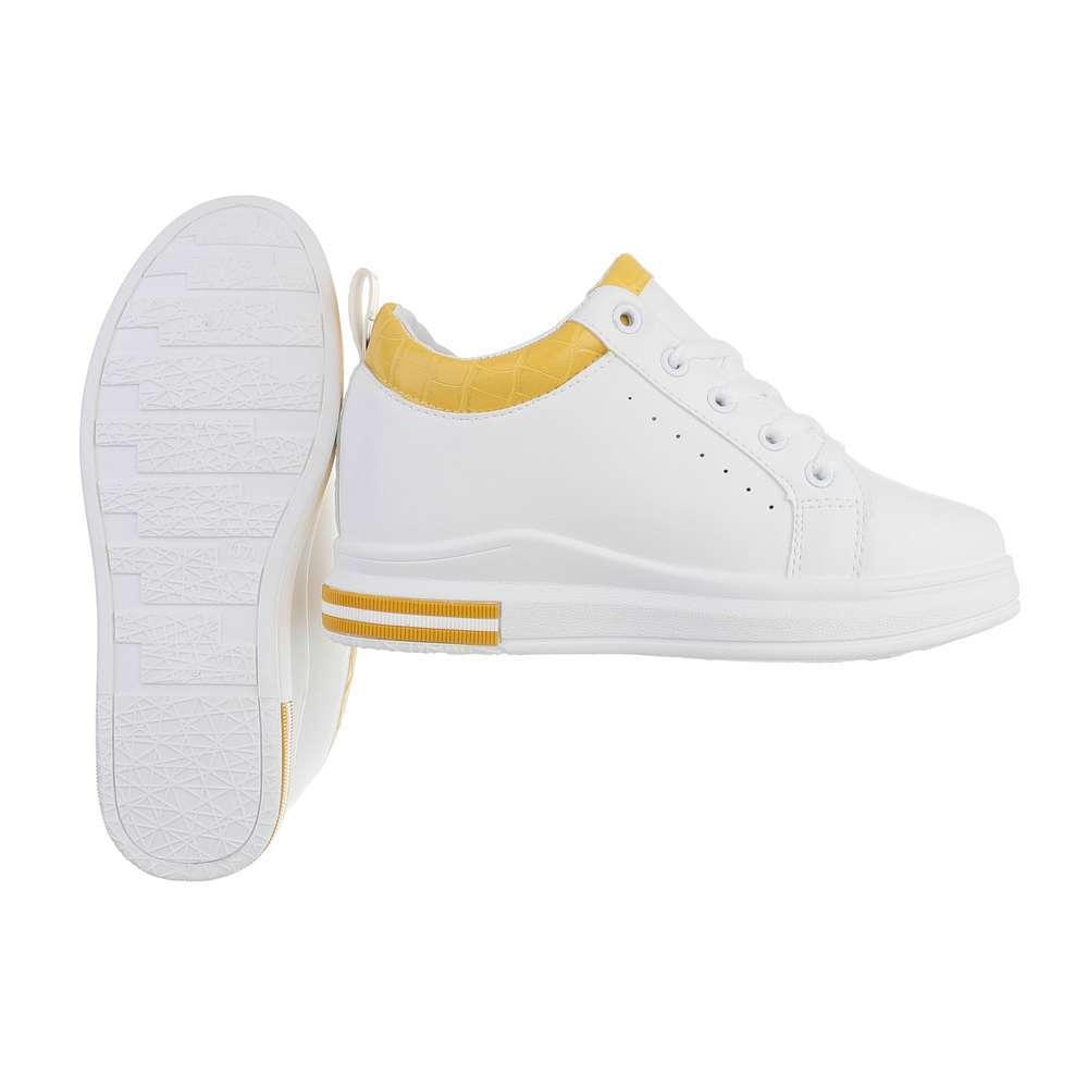Teniși pentru femei - alb-galben - image 2