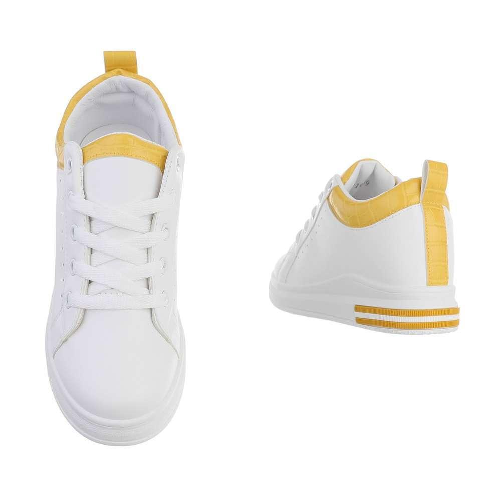 Teniși pentru femei - alb-galben - image 3