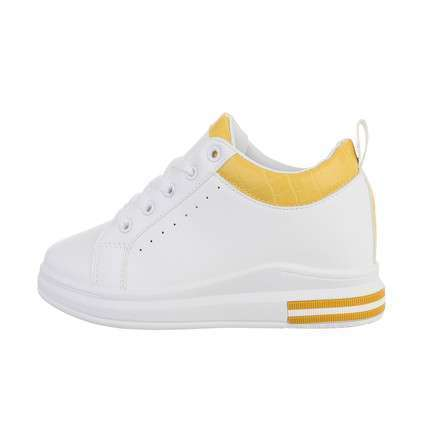 Damen High-Sneakers - whiteyellow
