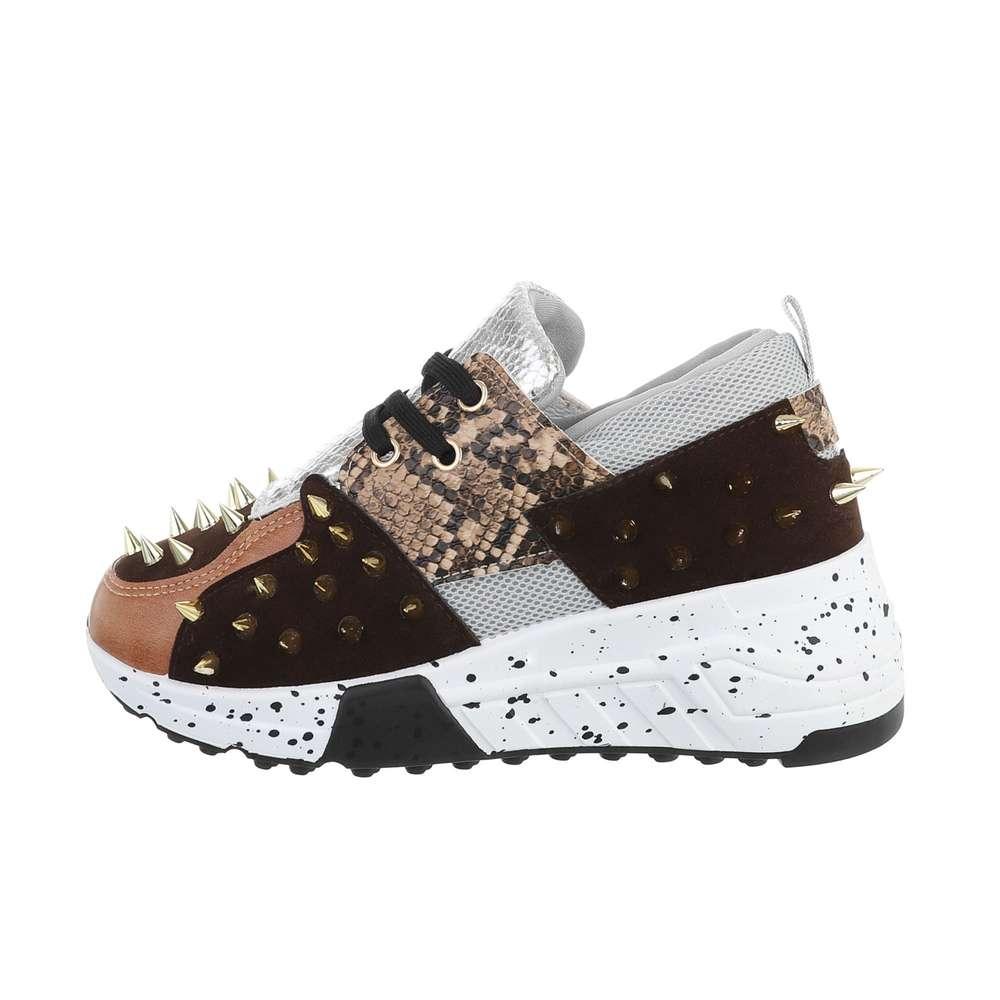 Обувь спортивная женская - коричневая