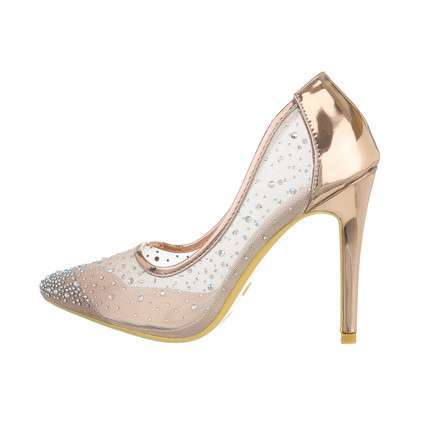 Damen High-Heel Pumps - champagne