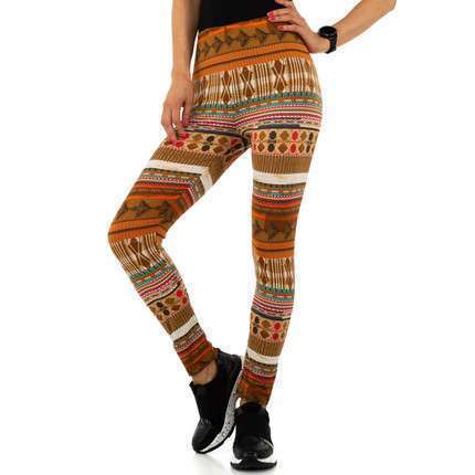 Damen Leggings von Metrofive - brown