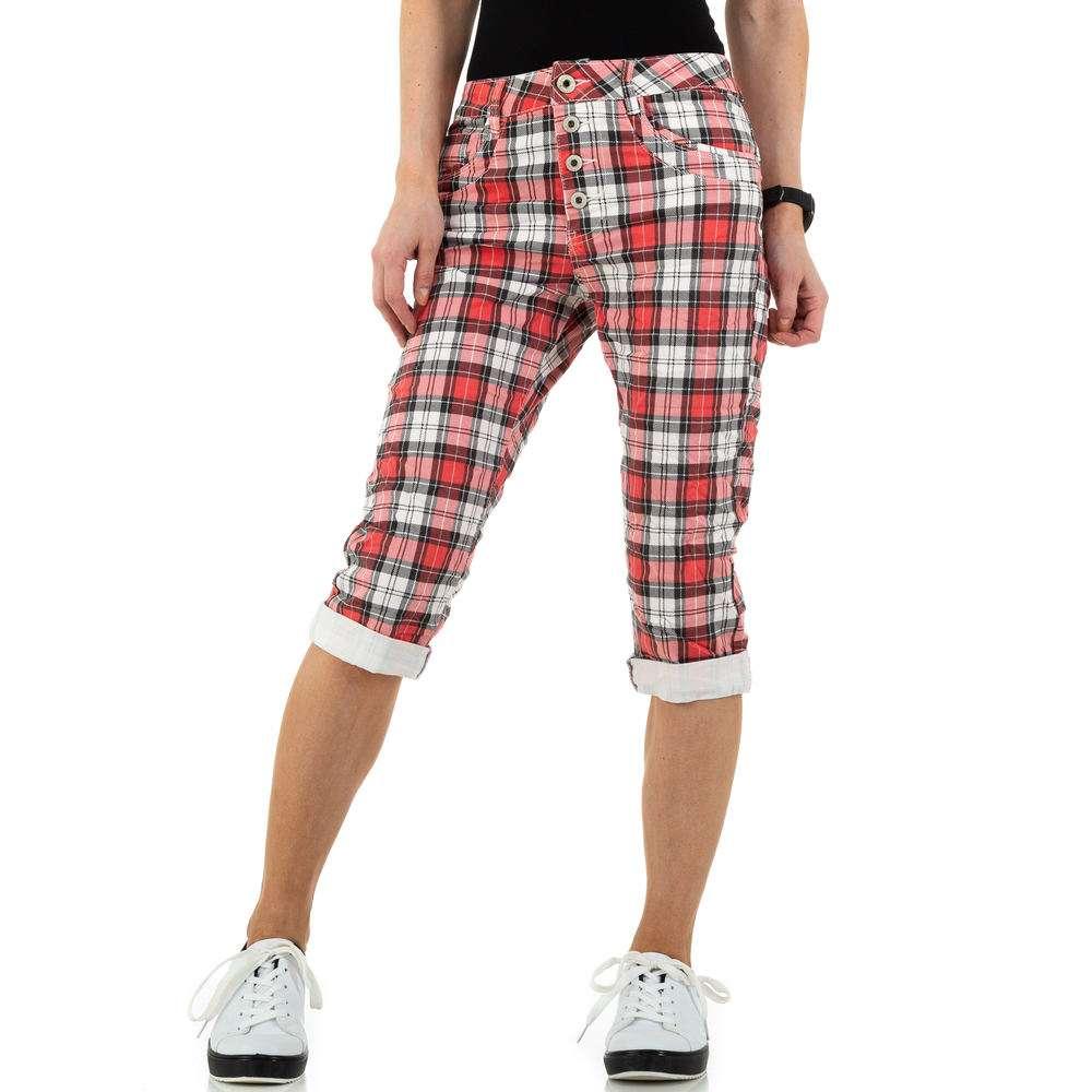 Blugi pentru femei by Jewelly Jeans - roșu