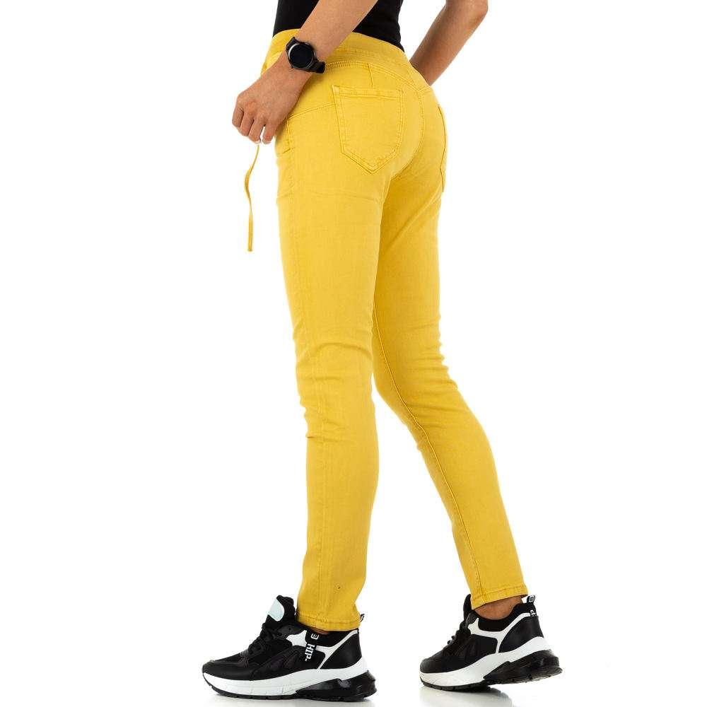 Blugi de dama de la Daysie Jeans - galben - image 3